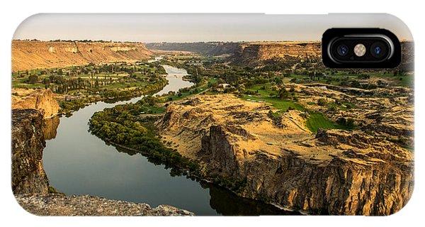 Centennial Bridge iPhone Case - Snake River Canyon In Idaho Landscape Art By Kaylyn Franks by Kaylyn Franks