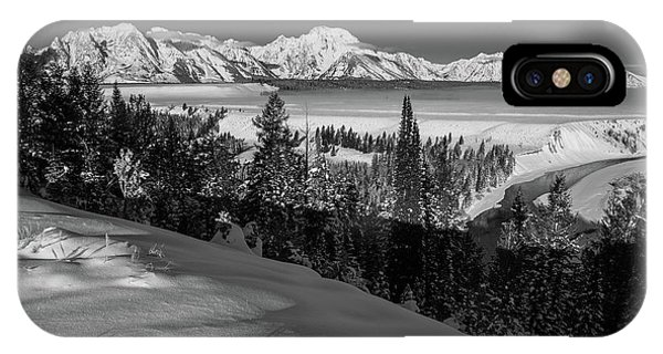 Snake River Overlook-winter Scene 79 IPhone Case
