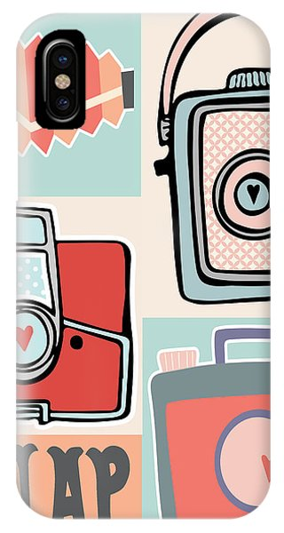 Camera iPhone Case - Snap - Vintage Cameras by Colleen VT