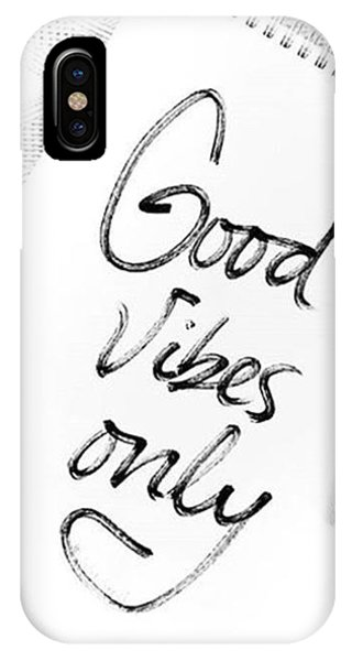 iPhone Case - Good Vibes Only by Jul V