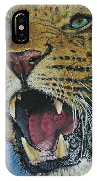 Snarl...amur Leopard IPhone Case