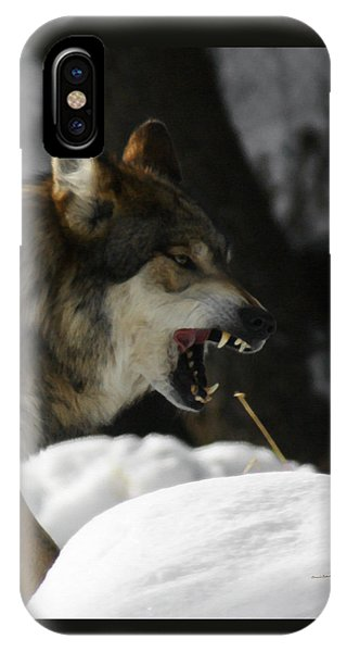 Snarling Wolf IPhone Case