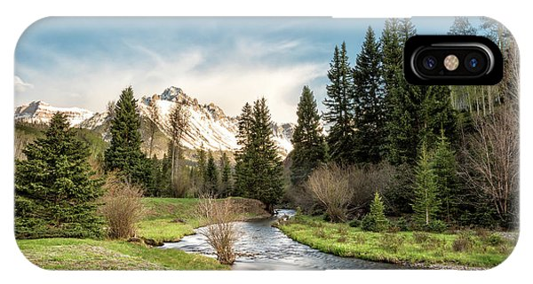 IPhone Case featuring the photograph Sneffels And Spring Stream by Denise Bush