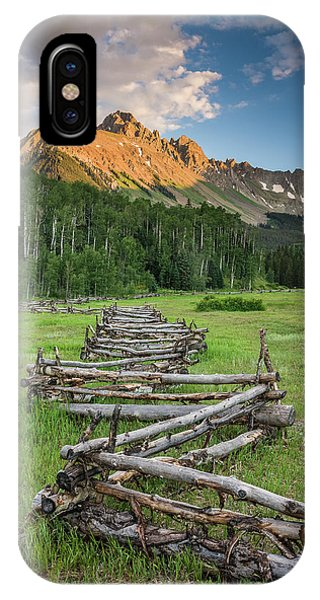 Sneffels Fence Vertical IPhone Case