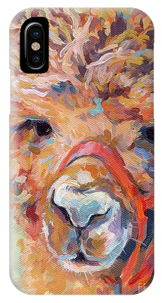 Llama iPhone Case - Snickers by Kimberly Santini
