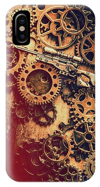 Mechanism iPhone Case - Sniper Rifle Fine Art by Jorgo Photography - Wall Art Gallery