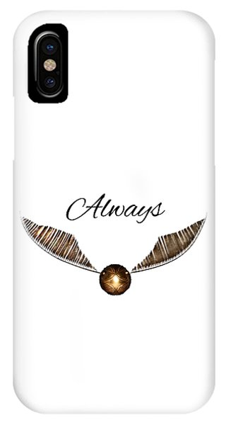 Snape iPhone Case - Snitch by Angie Fuentes