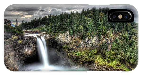 Snoqualmie Falls Storm IPhone Case