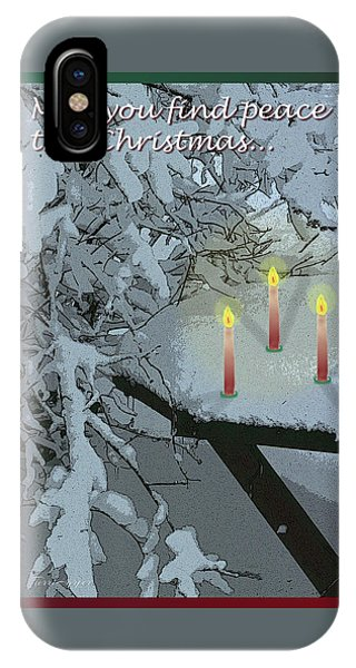 Snow And Candlelight IPhone Case