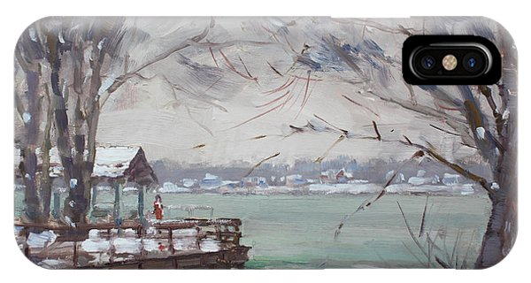Fisherman iPhone Case - Snow At Fishermans Park by Ylli Haruni