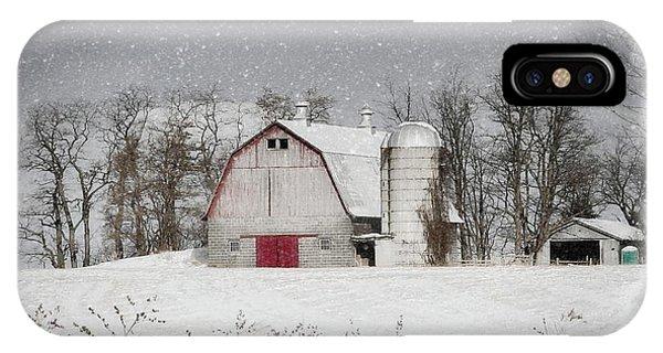 Snow Barn IPhone Case