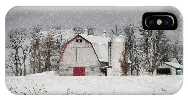 Snow Barn IPhone Case