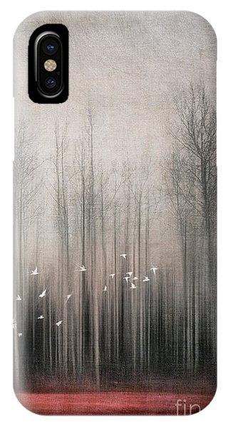 Bunting iPhone Case - Snow Birds by Priska Wettstein
