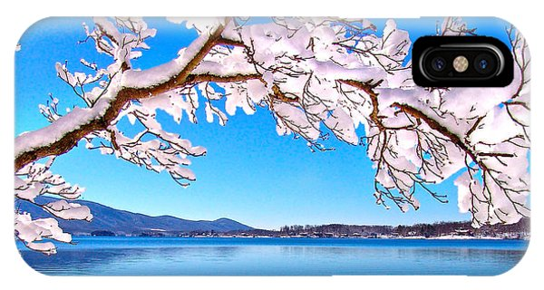 Snow Branch Smith Mountain Lake IPhone Case