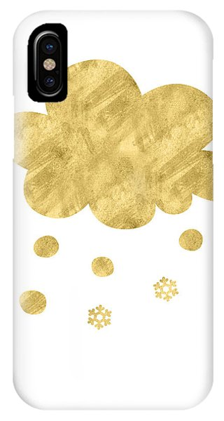 Winter iPhone Case - Snow Cloud- Art By Linda Woods by Linda Woods