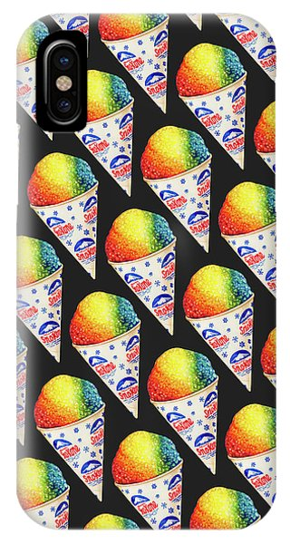 Ice Cream iPhone Case - Snow Cone Pattern by Kelly Gilleran