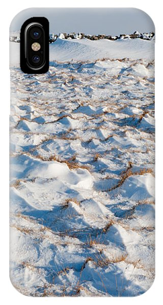 Snow Covered Grass IPhone Case
