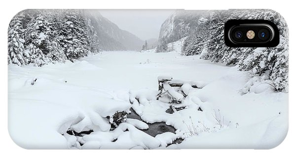 Snow Covered Lake IPhone Case