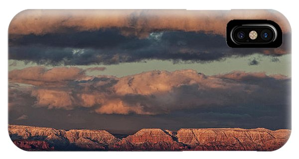 Snow Covered Red Rock Panorama IPhone Case