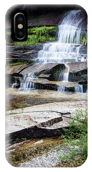 IPhone Case featuring the photograph Snow Creek Cascade by Tim Newton