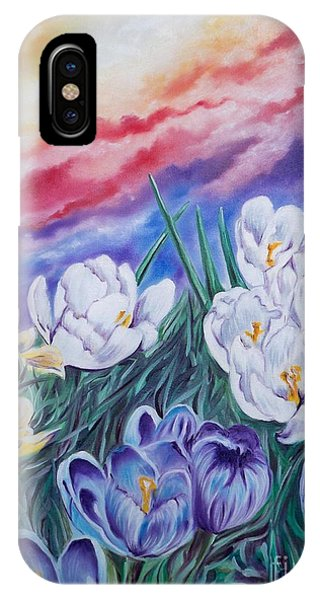 Flygende Lammet Productions      Snow Crocus IPhone Case