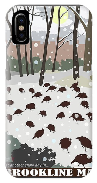 Turkey iPhone Case - Snow Day by Caroline Barnes
