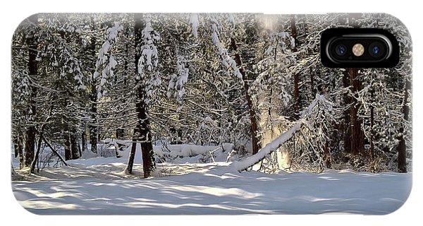 Snow Falling Off Cedars IPhone Case