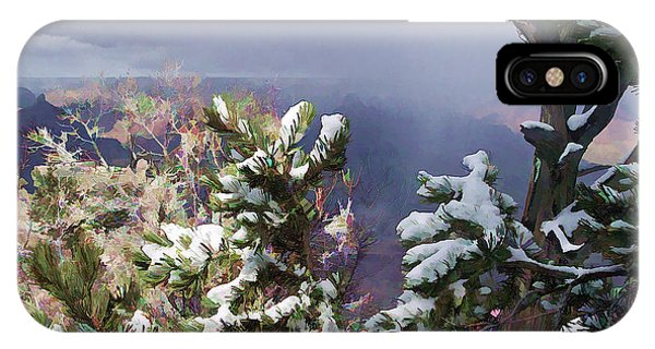 Snow In The Canyon IPhone Case