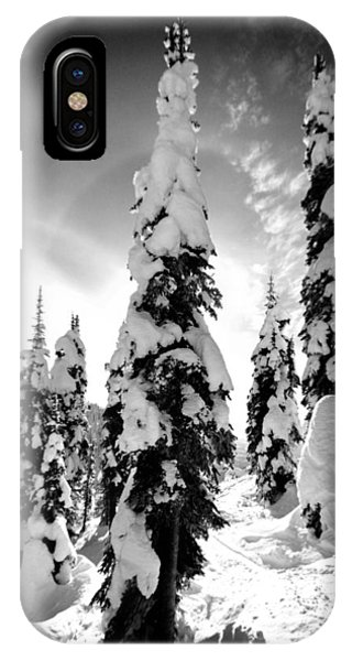 Snow Laden Tree IPhone Case