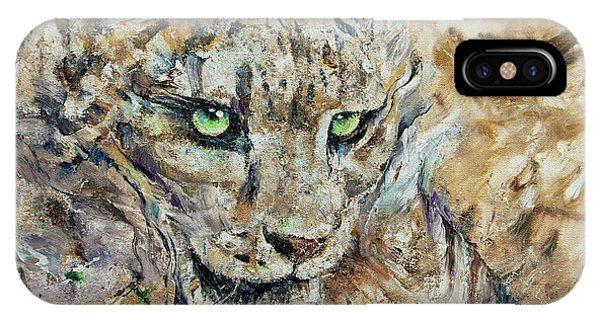 Snow Leopard iPhone Case - Snow Leopard by Michael Creese