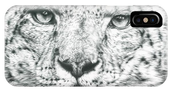 Snow Leopard iPhone Case - Snow Leopard  by Remrov