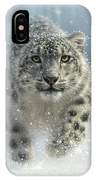 Snow Leopard - Snow Ghost IPhone Case