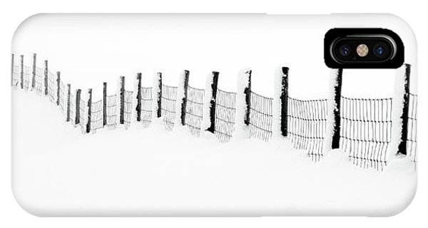 Moor iPhone Case - Snow Line by Janet Burdon