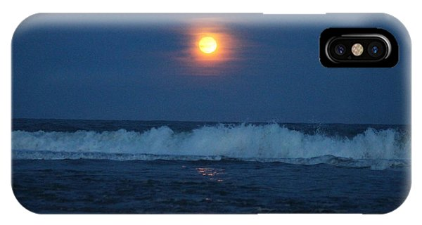 Snow Moon Ocean Waves IPhone Case