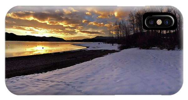 Snow On Beach IPhone Case