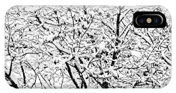 IPhone Case featuring the photograph Snow On Branches by Lars Lentz