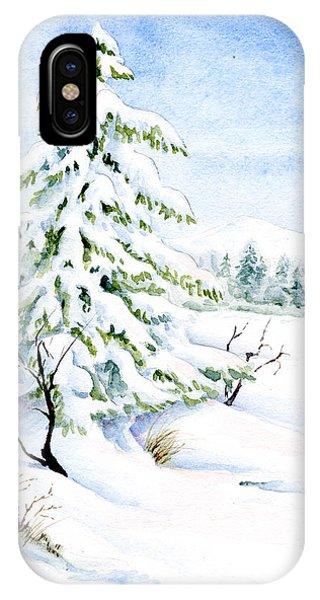 Snow On Evergreens IPhone Case