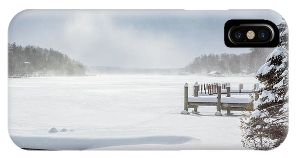 Snow On Lake Charlevoix IPhone Case