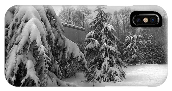 Snow On Pines IPhone Case