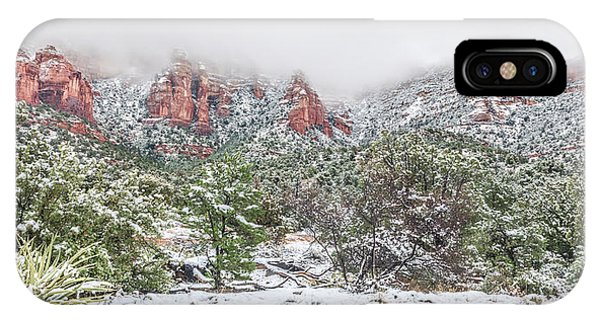 Snow On Red Rock IPhone Case