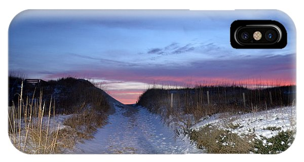 IPhone Case featuring the photograph Snow On The Dunes by Barbara Ann Bell