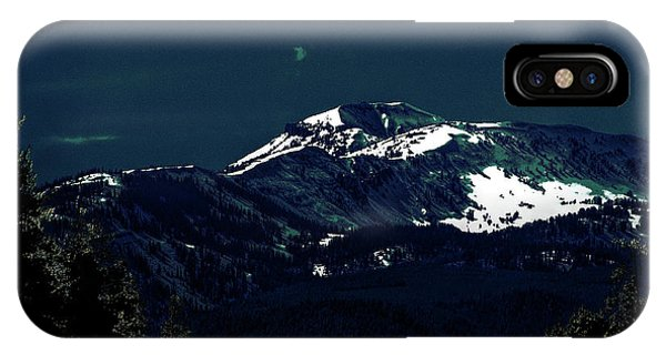 Snow On The Mountain At Night IPhone Case