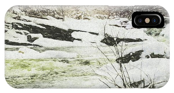 Snow On The Natchaug IPhone Case