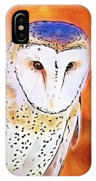 White Face Barn Owl IPhone Case