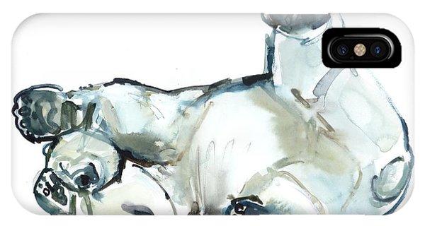 Bear iPhone Case - Snow Rub by Mark Adlington