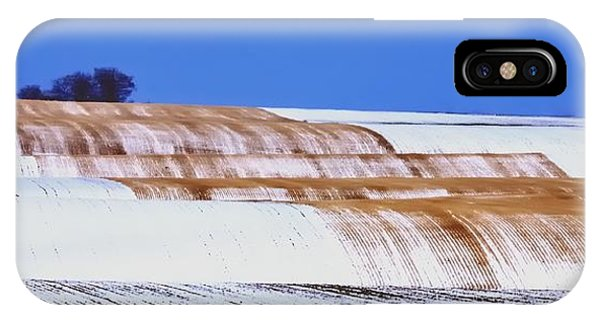 Snow Stubble Tree Line 13955 IPhone Case
