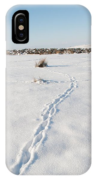 Snow Tracks IPhone Case