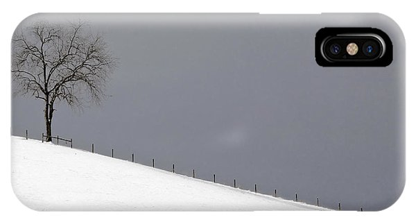 IPhone Case featuring the photograph Snow Tree by Ken Barrett