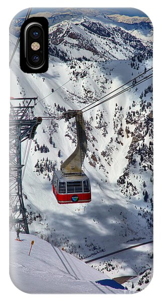 Snowbird Tram Portrait IPhone Case
