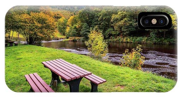 Fairy Glen iPhone Case - Snowdonia River Autumn by Adrian Evans